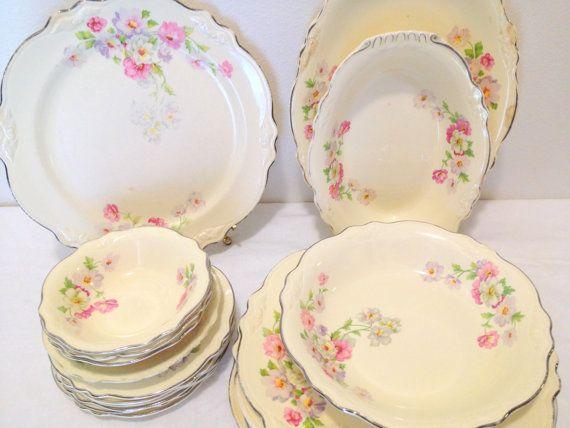 Vintage Dinnerware Set Virginia Rose Homer My Grandmama's China I love it so much
