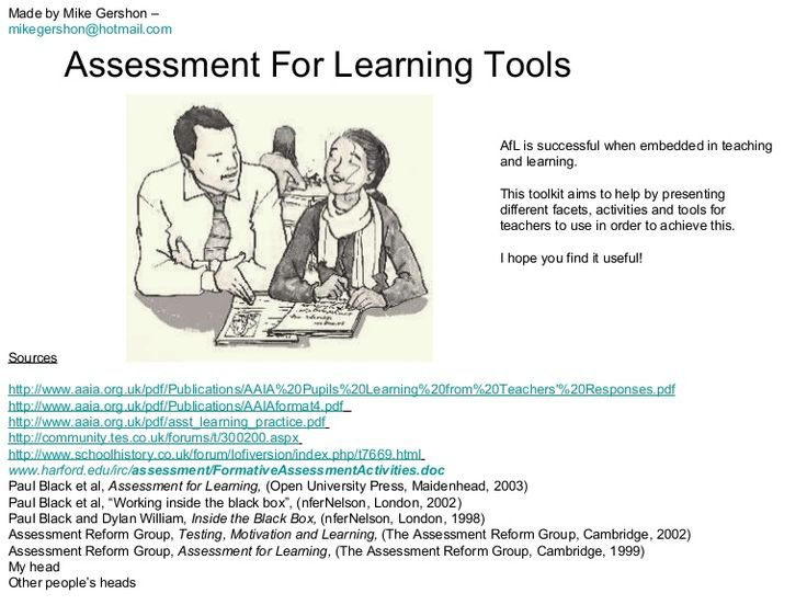 70 different activities, strategies and ideas for implementing assessment for learning in your teaching. Each slide has a picture to aid recall, a short explan…