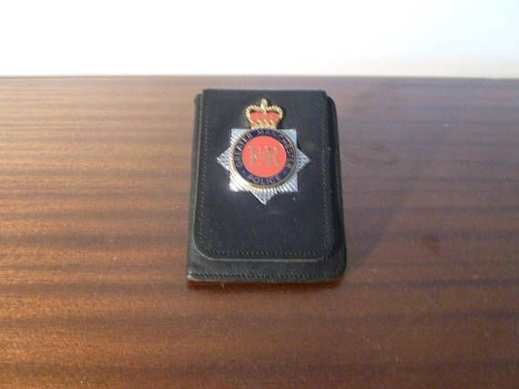 Vintage 1990s Issued Greater Manchester Police Wallet with Badge / Police Badge-Wallet in Great Condition / Collectible Police Memorabilia by V1NTA6EJO