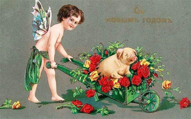 Дореволюционные открытки С НОВЫМ ГОДОМ