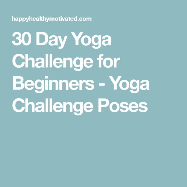 30 Day Yoga Challenge for Beginners - Yoga Challenge Poses