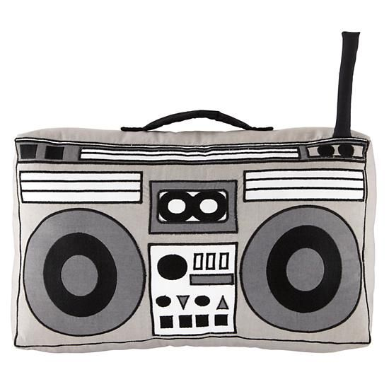 Boombox pillow from land of nod