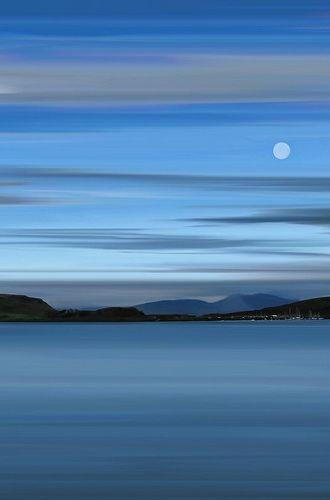 naturaleza azul, cielo y mar