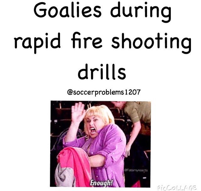 This is the worst. My coach trains me hard so I usually have at least 3 people shooting at once from different angles