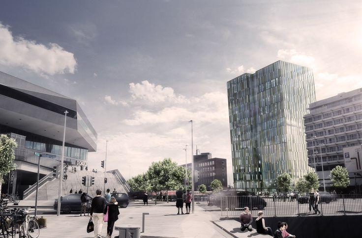 Highrise Aarhus C by aarhus arkitekterne #highrise #danisharchitecture #scandinavianarchitecture #aarhusarkitekterne