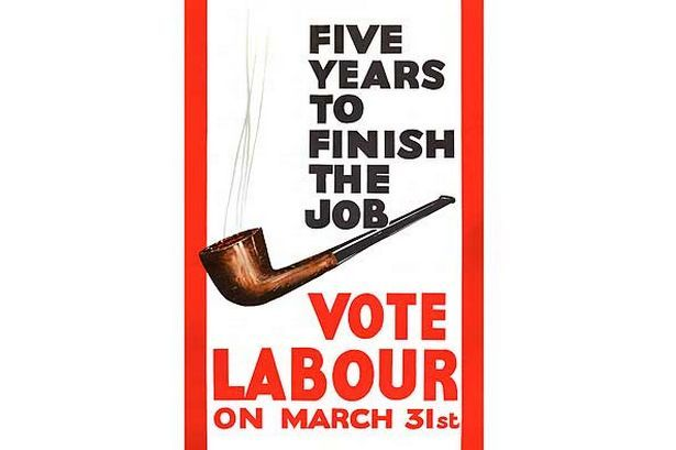 Five Years to Finish the Job; Labour Party Poster 1966