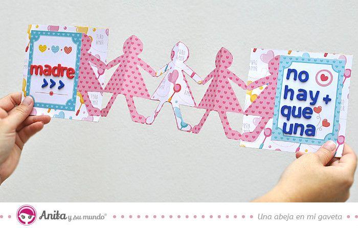 Aprende con este nuevo tutorial de Anita y su mundo cómo hacer 6 originales tarjetas del Día de la Madre de manera fácil y paso a paso.