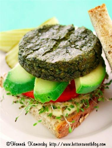 Зеленый бургер из тофу (любой ПП)