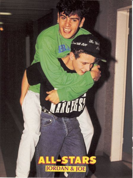JORDAN KNIGHT pinup - Catching a ride on the back of JOE MCINTYRE ...