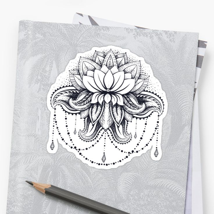 Vector ornamental Lotus, ethnic zentangled henna tattoo, patterned Indian paisley for adult anti stress coloring pages. Hand drawn illustration in doodle style. • Also buy this artwork on stickers, apparel, phone cases, and more.