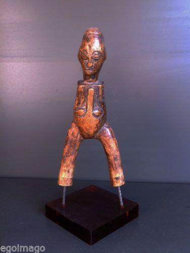 ART PREMIER -ANCIEN LANCE PIERRES BAOULÉ (cote d'ivoire)  - BELLE PATINE - in Art, antiquités, Art du XXème, contemporain, Arts, objets ethniques | eBay
