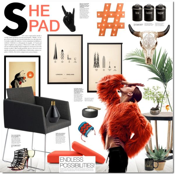 shePAD by justlovedesign on Polyvore featuring interior, interiors, interior design, home, home decor, interior decorating, Moe's Home Collection, Ethimo, Typhoon and Muuto