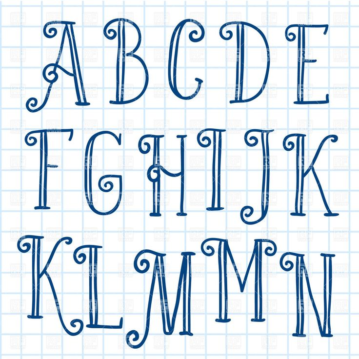 Hand written font on checkered paper, 29159, download royalty-free vector clipart (EPS)