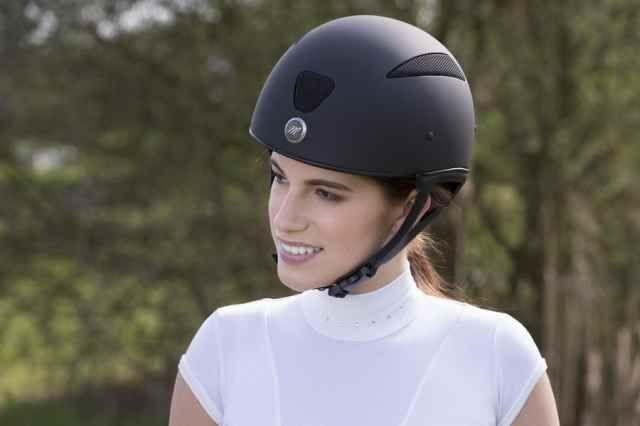 "Casco equitazione Cross-country Equitheme modello ""Air"" senza visiera."