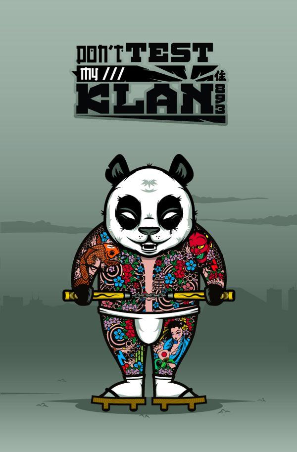 """DOKU"" The Giant Panda  YAKUZA (japanese mafia )  Don't test my klan."