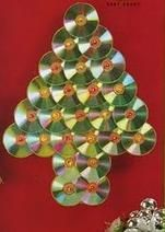 VCTRY's BLOG: Arbol de Navidad de pared con CD's reciclados y lu...