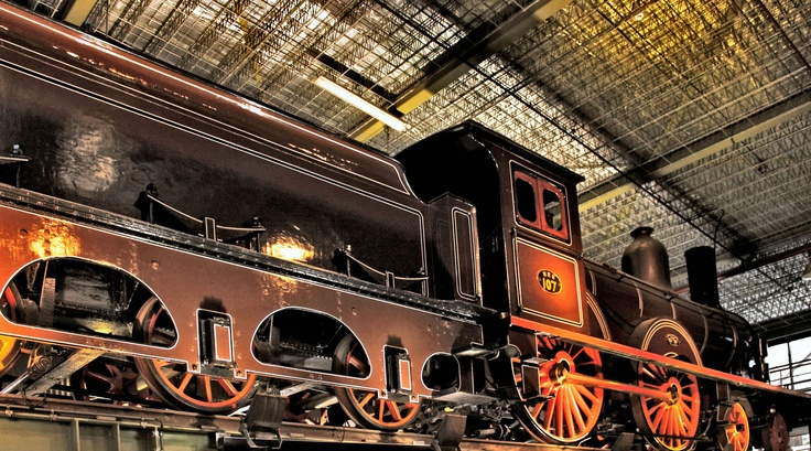 Railway museum Maliebaan station, Utrecht, the Netherlands. (by: harry eppink)