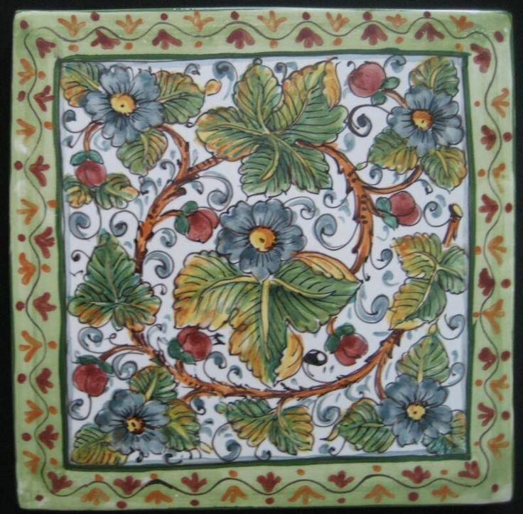 Italian ceramic tile wall murals google search for Ceramic tile mural backsplash