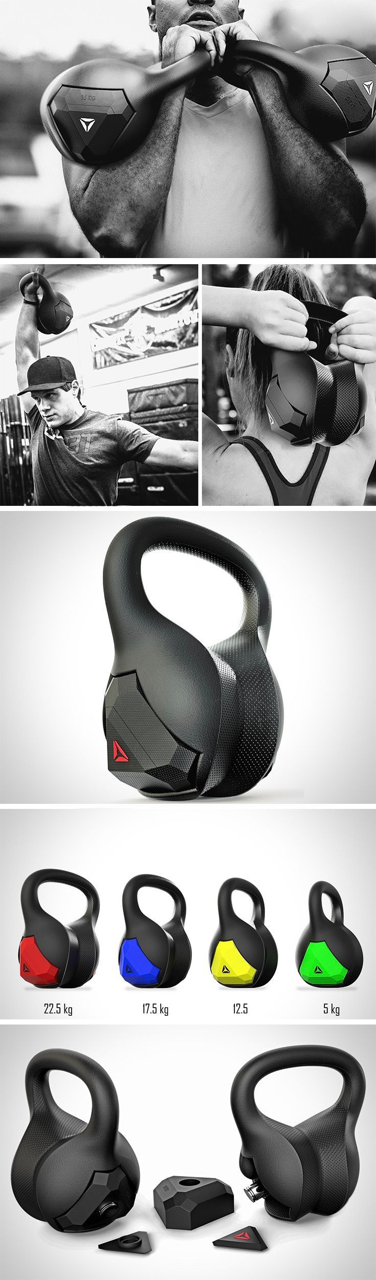 this design features a unique, contoured shape that is ergonomically adapted to wrap around the wrist and forearm, providing a much more comfortable kettlebell experience.