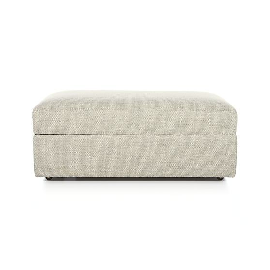 Lounge II Storage Ottoman with Casters in Ottomans & Cubes | Crate and Barrel