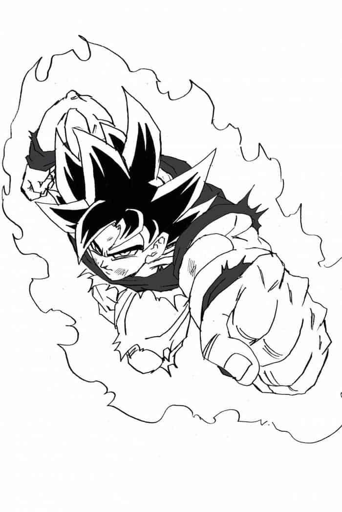 Goku Ultra Instinct Coloring Pages In 2020 Dragon Ball Super Manga Dragon Ball Art Dragon Ball Super Goku