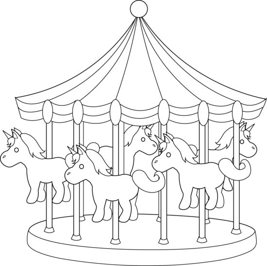 coloring pages of carousel zebra - photo#37