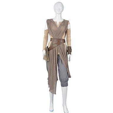 Cosplay Costumes / Star Wars Rey Cosplay Star Wars The Force Despierta Cosplay Traje Adulto de la Mujer Traje de Halloween 5396776 2016 – $100.99