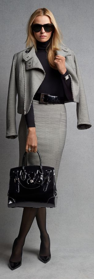 Effortless Luxe: Houndstooth separates for chic daytime polish