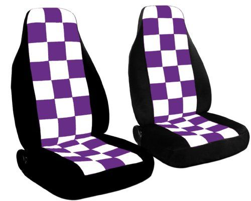 purple seat covers | ... border, white and purple checkered seat covers for a 2000 VW Beetle