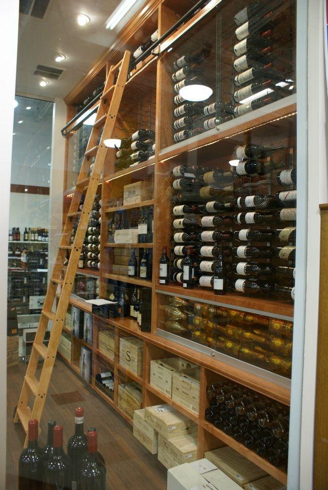 We install custom ladders too.  Wine Cellar Designed by CellarMaker.