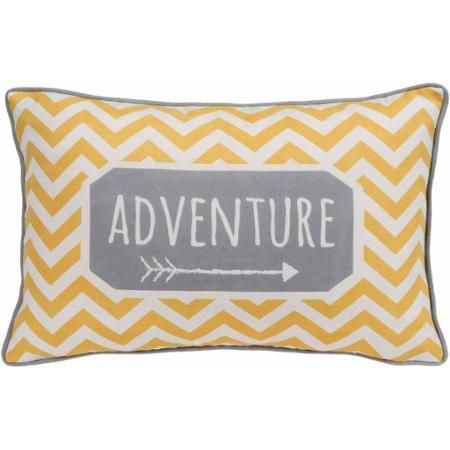 Better Homes and Gardens Chevron Adventure, Yellow and Grey Whimsical Oblong Pillow with Binding - Walmart.com