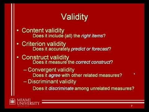 Validity - Does your measuring instrument measure, what it is supposed to measure? (Psychology) - YouTube