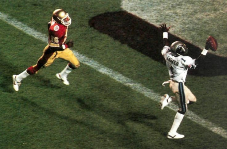 Anthony Carter - Michigan Panthers. Scores in the 1983 USFL Championship Game.