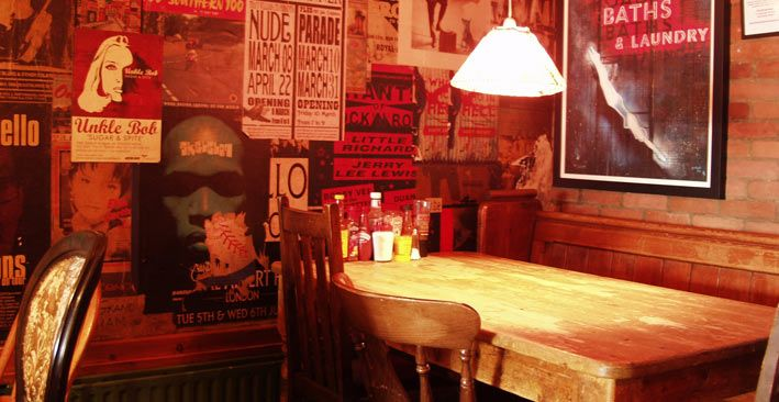 Cool interior of #Banners Restaurant in Middle Lane, #CrouchEnd #N8