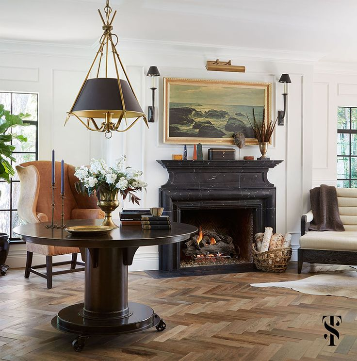 Country Club— Interior design, remodel, and expansion of a classic french tudor style home on country club. | Interior by Summer Thornton Design