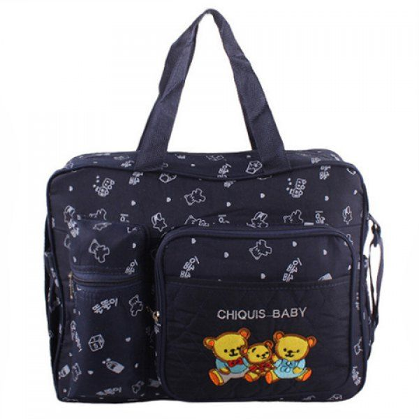 $12.49 Stylish Bear Pattern and Printed Design Women's Diaper Bag