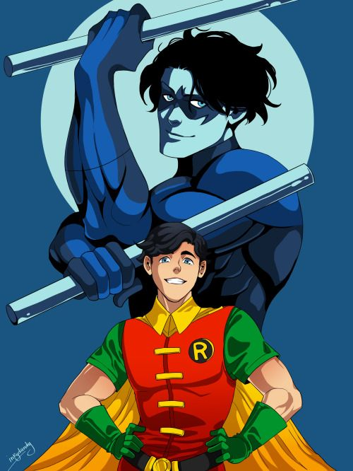 Dick Grayon. Robin. Nightwing. - http://inkydandy.tumblr.com/
