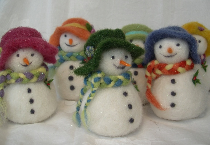 Snowman Christmas Ornament  - MADE TO ORDER - needle felted. $28.00, via Etsy.