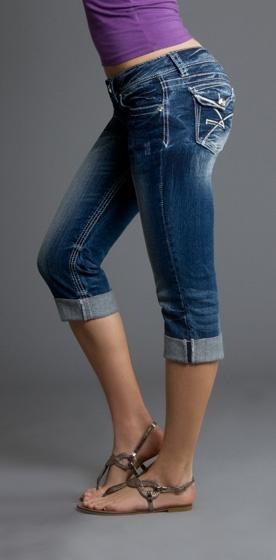 Amethyst Jeans | Capris