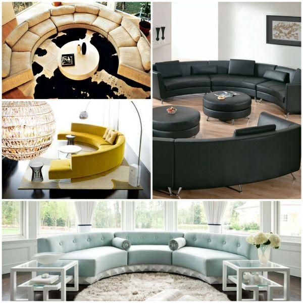 Schön Runde Sofas Sofa Rund Runde Couch