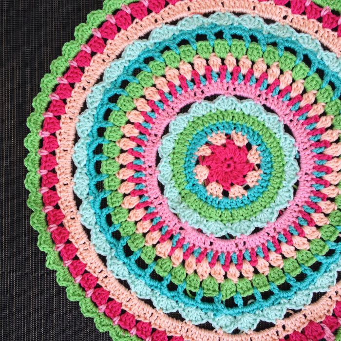 Colorful and bright doily