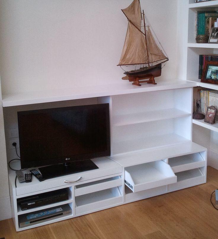 Hecho en madera Fet en fusta: Mueble con estanteria para televisor con bandeja extraible y cajones a medida #Manacor #Mallorca #decoracion  #trabajo  #blog #carpimteria #ebanisteria #empresa #fusta #diseño #Mueble #Madera