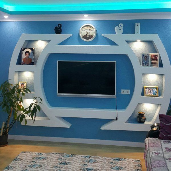 Most Lovely Gypsum Board Tv Units That You Will Adore Engineering Discoveries Front Wall Design House Wall Design Feature Wall Design