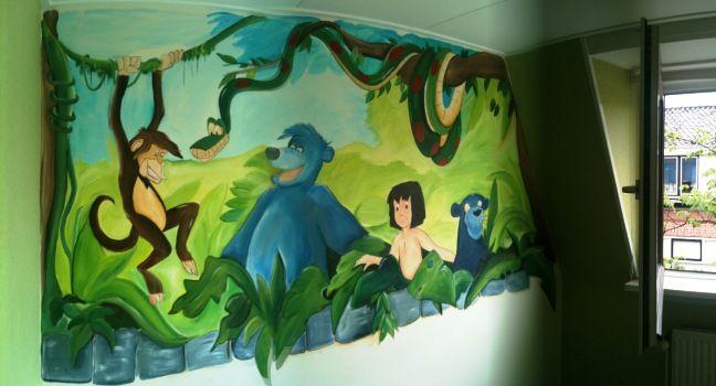 Kinderkamer Jungle Behang : Jungle behang kinderkamer finest leuke jungle dieren muursticker
