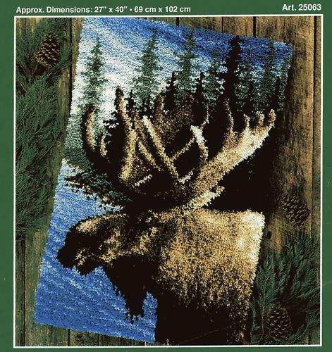 JP J P J P Coats Moose Latch Hook Rug Pattern Only No Yarn