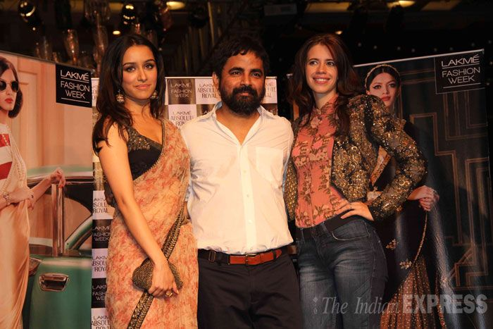 Though the designer chose not to have a showstopper this year, celebrities Nargis Fakhri, Kalki Koechlin, Sameera Reddy, Shraddha Kapoor and Jugal Hansraj made it a point to attend his show. (Photo: Varinder Chawla)