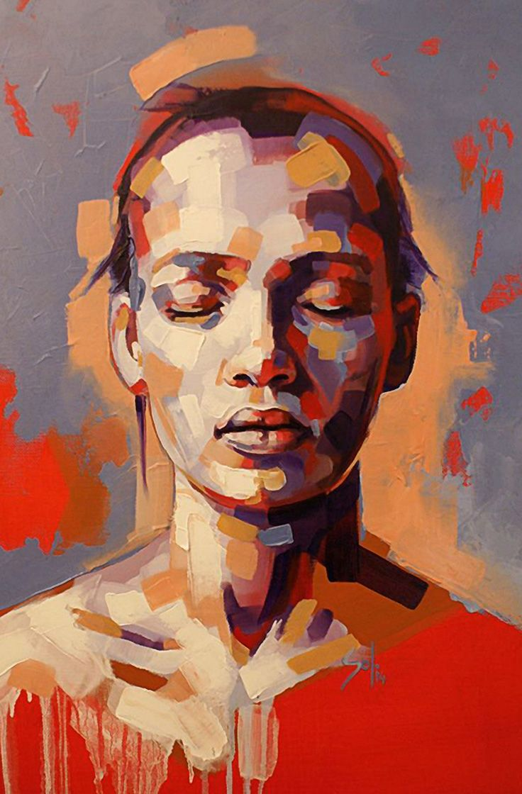 Solly Smook, oil, acrylic on canvas, 2015. portrait painting