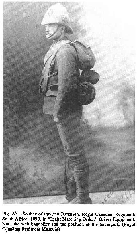 Soldier of the 2nd Battalion, Royal Canadian regiment in the Boer War.