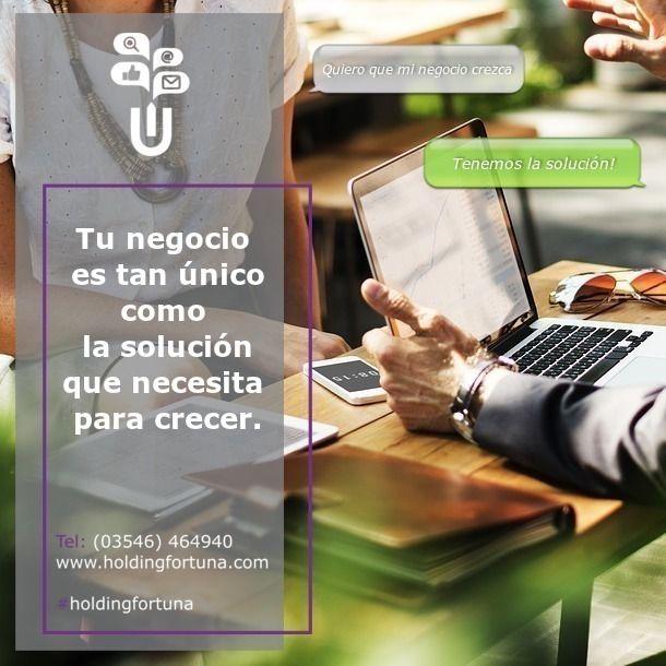 ✔️Tenemos la solución para hacer crecer tu negocio! ✔️FORTUNA MARKETING & COMUNICACIÓN en todo el Valle de Calamuchita.  ✔️Comunicate con nosotros al teléfono 3546-464940 o por mail a: holding@holdingfortuna.com y solicitá asesoramiento.