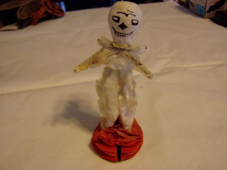 rare vintage 1930s japan pipe cleaner standing skeleton halloween decoration collectibles holiday seasonal - Ebay Halloween Decorations